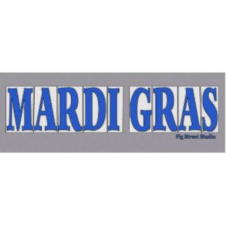 Blue Letter Street Tiles Mardi Gras Cut Out