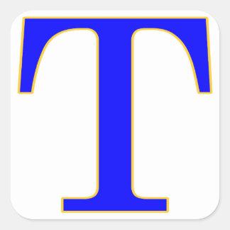 Blue Letter T Sticker
