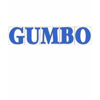 Blue Letter Tiles, GUMBO shirt