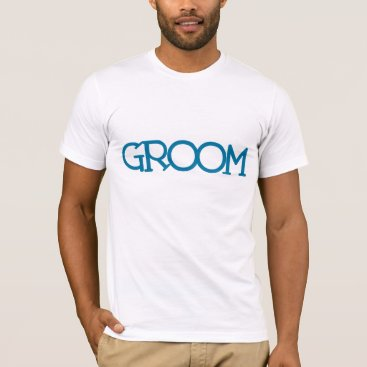 """heartlocked Blue Lettering """"Groom"""" 