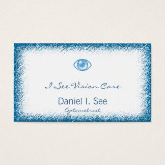 Blue Letterpress Style Eye-Con Business Card