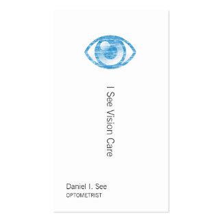Blue Letterpress Style Eye-Con Business Card Templates