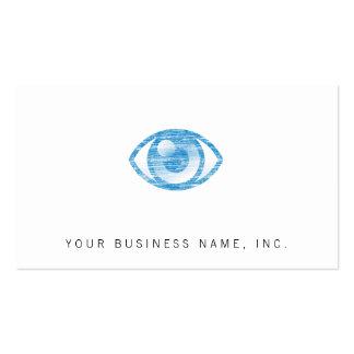 Blue Letterpress Style Eye-Con Business Cards