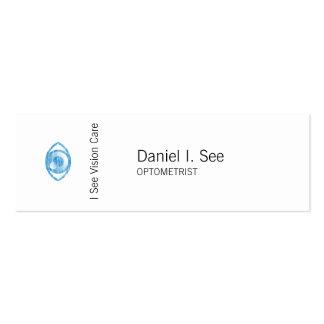 Blue Letterpress Style Eye-Con Mini Business Card