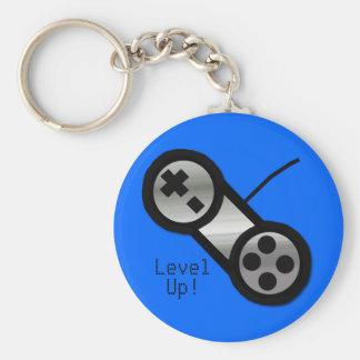 Blue Level Up Keychain