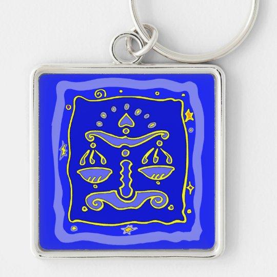 Blue Libra Keychain