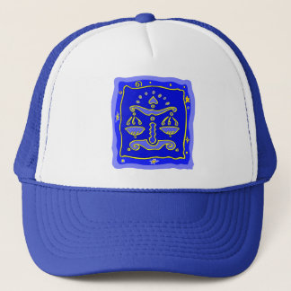 Blue Libra Trucker Hat