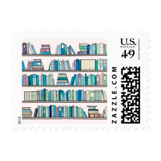 Blue Library Stamps