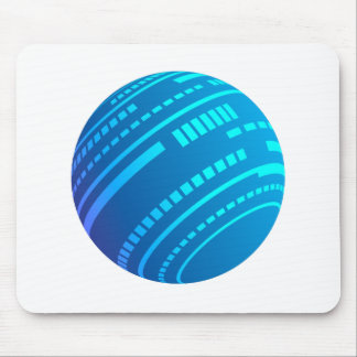 Blue lichtbol mouse pad