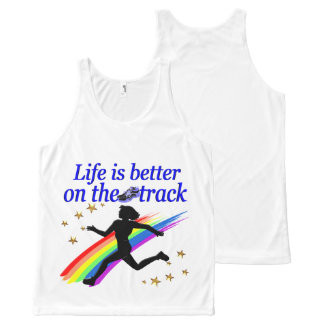 BLUE LIFE IS BETTER ON THE TRACK DESIGN All-Over-Print TANK TOP