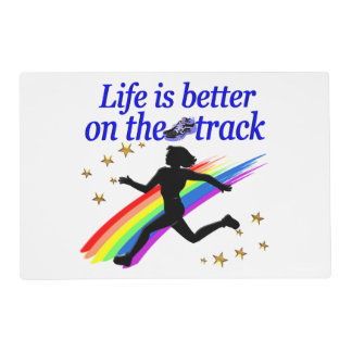 BLUE LIFE IS BETTER ON THE TRACK DESIGN PLACEMAT