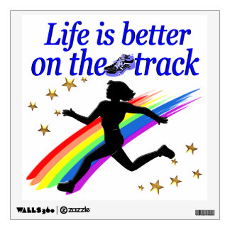 BLUE LIFE IS BETTER ON THE TRACK DESIGN WALL STICKER
