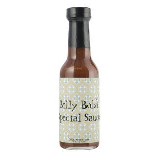 Blue Life Preservers on Sandy Brown Hot Sauce