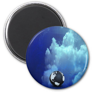 Blue Light 2 Inch Round Magnet