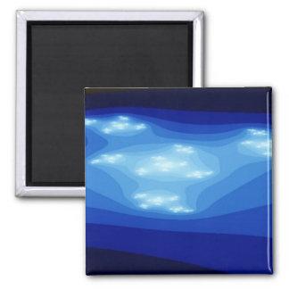 Blue light 2 inch square magnet