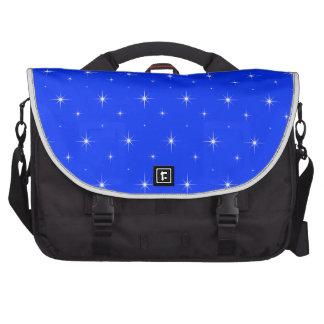 Blue-Light-And-Bright-Stars-Elegant-Pattern Laptop Commuter Bag