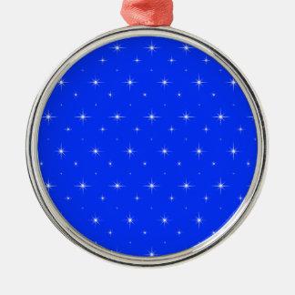 Blue-Light-And-Bright-Stars-Elegant-Pattern Metal Ornament