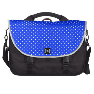 Blue-Light And-White-Polka-Dots Commuter Bag