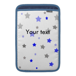 Blue, light blue and grey stars pattern MacBook air sleeves