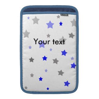 Blue, light blue and grey stars pattern MacBook sleeve