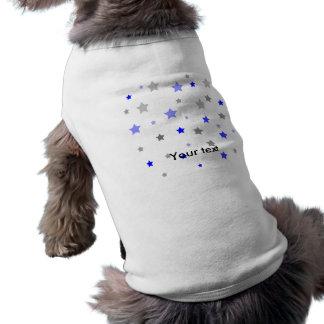 Blue, light blue and grey stars pattern shirt