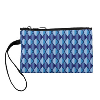 Blue Light Blue Coin Wallet