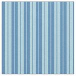 [ Thumbnail: Blue & Light Blue Pattern of Stripes Fabric ]