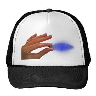 Blue light bulb hat