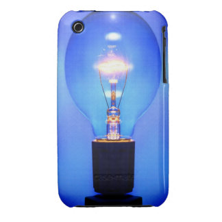 Blue Light Bulb iPhone Case iPhone 3 Cover