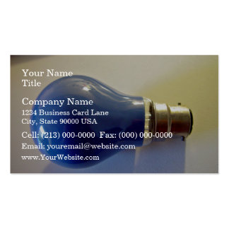 Blue light bulb with bayonet fitting business card