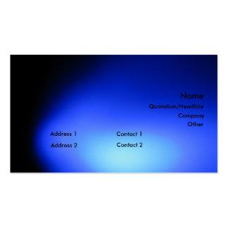 Blue Light Business Card