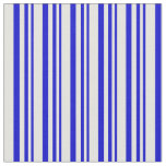 [ Thumbnail: Blue & Light Cyan Colored Striped Pattern Fabric ]