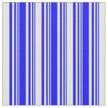 [ Thumbnail: Blue & Light Cyan Colored Striped Pattern Fabric ]