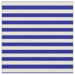 [ Thumbnail: Blue & Light Cyan Colored Stripes/Lines Pattern Fabric ]