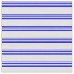 [ Thumbnail: Blue & Light Cyan Colored Stripes Pattern Fabric ]