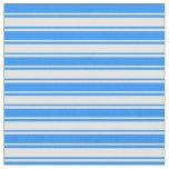 [ Thumbnail: Blue & Light Cyan Lined Pattern Fabric ]