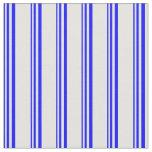 [ Thumbnail: Blue & Light Cyan Stripes Fabric ]