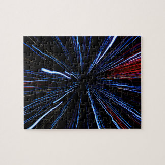 blue light display, colored laser, Infinity light Jigsaw Puzzle