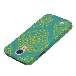 blue light floral ornament samsung galaxy4 samsung s4 case