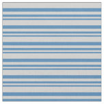 [ Thumbnail: Blue & Light Gray Colored Striped/Lined Pattern Fabric ]