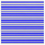 [ Thumbnail: Blue & Light Gray Colored Striped Pattern Fabric ]