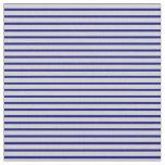 [ Thumbnail: Blue & Light Gray Lined/Striped Pattern Fabric ]