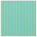 [ Thumbnail: Blue & Light Green Colored Striped/Lined Pattern Fabric ]