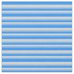 [ Thumbnail: Blue & Light Grey Colored Pattern of Stripes Fabric ]
