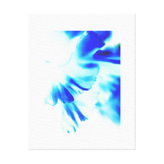 Blue light petals with self-framing effect canvas print