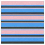 [ Thumbnail: Blue, Light Pink, Dark Slate Gray & Black Colored Fabric ]