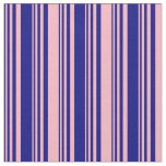 [ Thumbnail: Blue & Light Pink Pattern Fabric ]