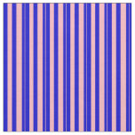 [ Thumbnail: Blue & Light Pink Striped/Lined Pattern Fabric ]