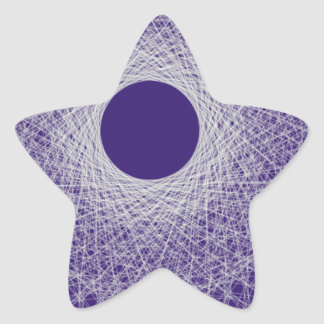 blue light radiating white light universe star sticker