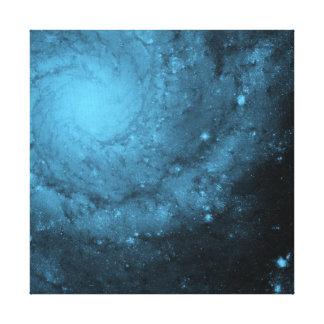Blue Light Series - 5 - Big Bang Stretched Canvas Print